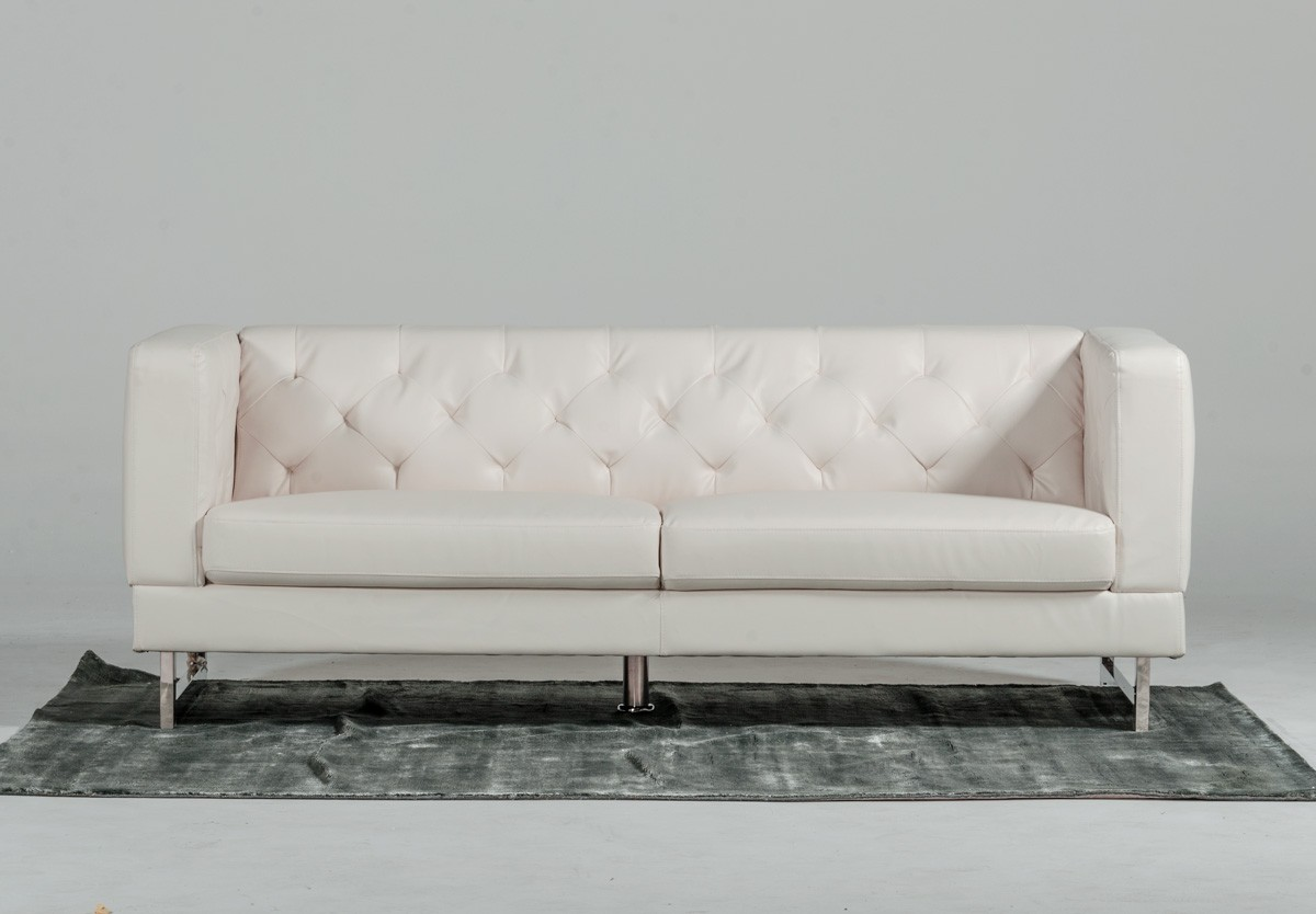 dwellstudio chester sofa black microfiber and loveseat modern tufted leather cool