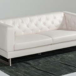 4087 Modern Bonded Leather Sectional Sofa With Recliners Upholster Divani Casa Windsor Tufted Eco Set