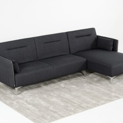Contemporary Grey Sofa Bed Ashley Queen Size Sleeper Divani Casa Rixton Modern Fabric Sectional