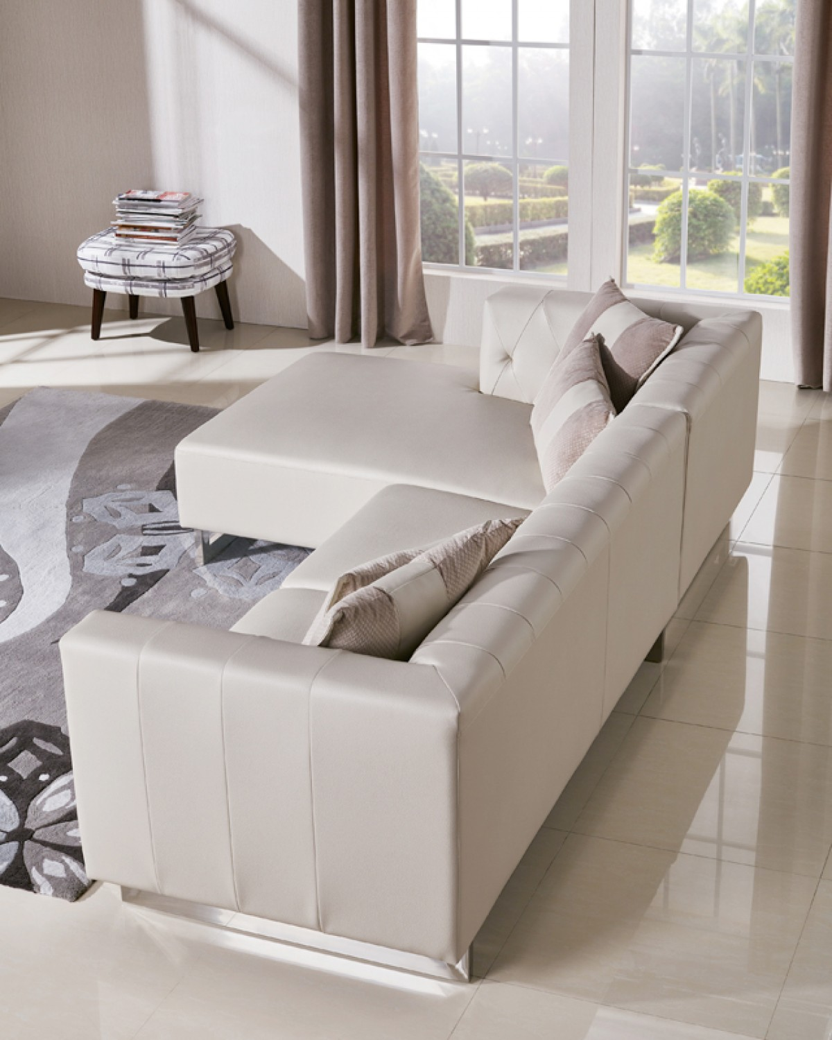leatherette vs fabric sofa turn my bed into a divani casa carolina modern and sectional