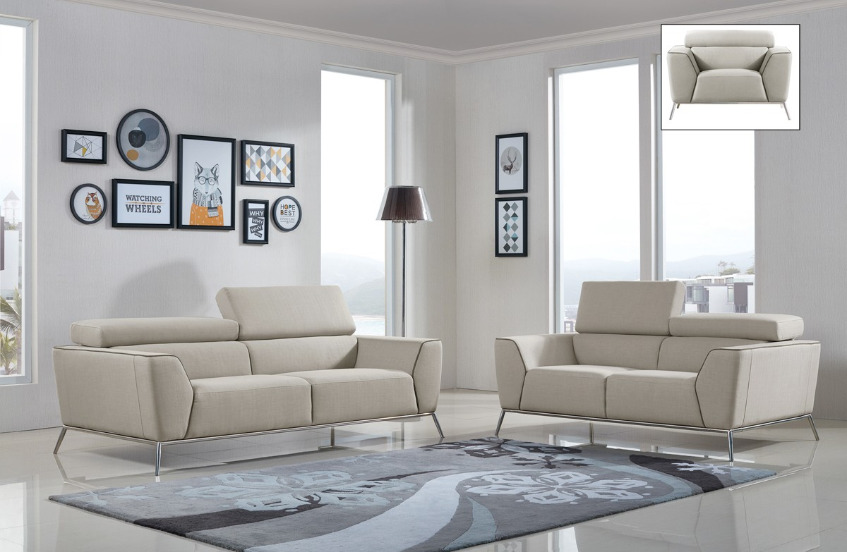 beige and brown leather sectional sofa with built in footrests design of wooden set pictures divani casa velva modern fabric