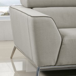 Brown And Beige Sofa Single Seat Bed Malaysia Divani Casa Velva Modern Fabric Set