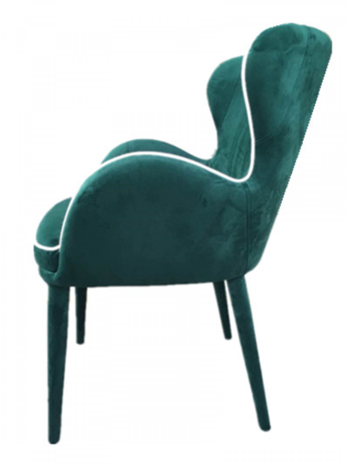 modern green dining chairs dorm bedroom chair modrest tigard fabric