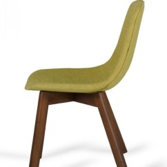 Modern Green Dining Chairs Round Rocking Chair Laken Tea And Walnut Set Of 2