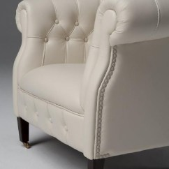Modern White Leather Club Chair Recycled Adirondack Chairs Estro Salotti Spark Lounge