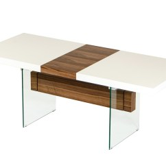 Ferrari Office Chair Event Covers Hire Modrest Sven Contemporary White & Walnut Floating Extendable Dining Table