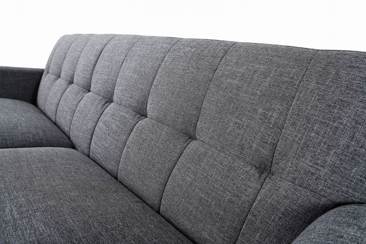Divani Casa Corsair Modern Grey Fabric Sofa Set