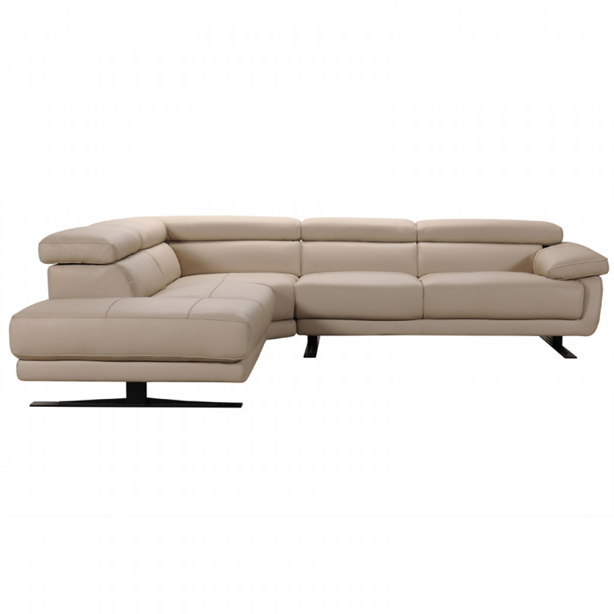 taupe color leather sofa the best bed in world divani casa gypsum modern sectional