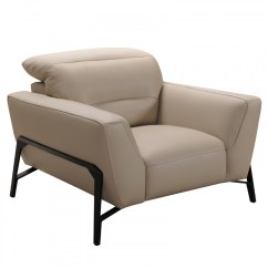 Taupe Color Leather Sofa Adelaide Divani Casa Evora Modern And Chair Set