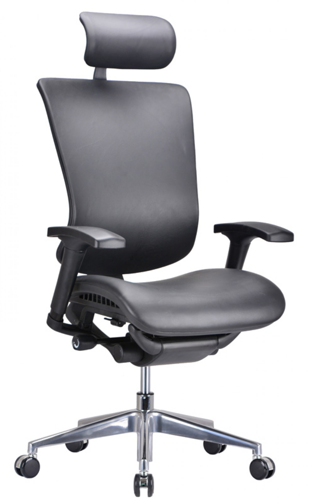 modern black leather desk chair lawn covers home depot modrest watson office