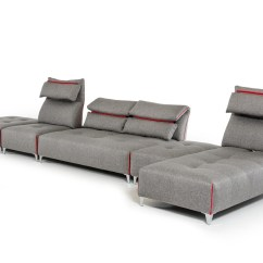 Lusso Horizon Modern Grey Fabric Leather Sectional Sofa Chairs For Sale In Ghana David Ferrari Zip
