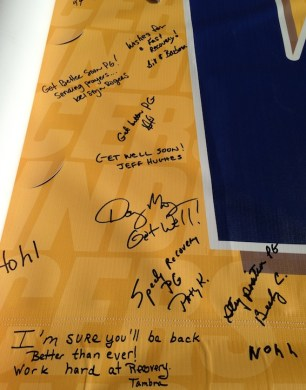 fans leave paul george their well wishes on get well banner