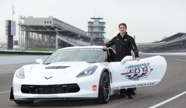 Gordon was ecstatic to drive the pace car at the Indy 500 last May. [Photo: IMS]