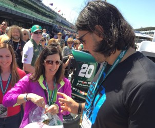 Scola was friendly with the crowd as he enjoyed his first visit to IMS.
