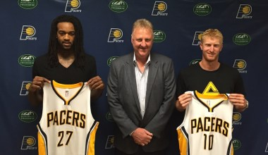 The Pacers will welcome at least eight new faces when training camp opens on Sept. 29.