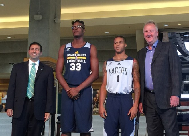 Myles Turner, Joe Young model practice jersey with St. V logo
