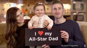 Hayward participated in the #LeanIn campaign through the NBA.