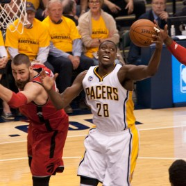 Mahinmi contributed 12 points and four rebounds. [Frank McGrath/PS&E]