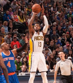 Paul George has led the team in scoring this season: 23.1 points per game, plus 7.0 rebounds and 4.0 assists. [Photo: Frank McGrath/PS&E]