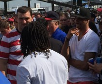 Andrew Luck, T.Y. Hilton, and George Hill before going on SportsCenter.