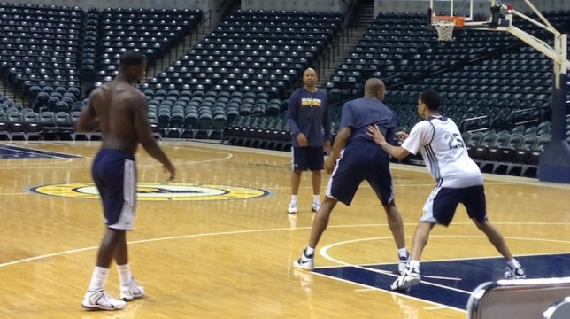Brian Shaw frequently worked with players after practice.