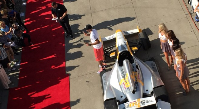 George Hill walked the red carpet at the Indy 500 for the first time.