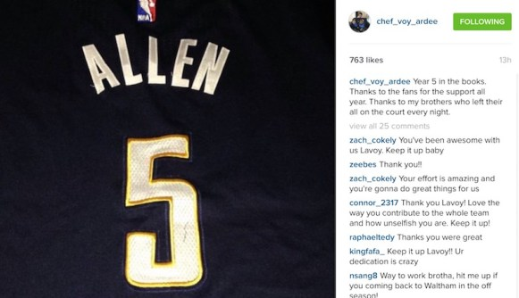 Lavoy Allen end of season post