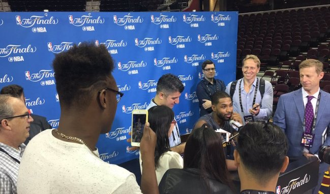 Turner asked Tristan Thompson who his favorite NBA rookie was this season...