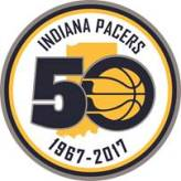 Pacers official logo for the upcoming season-long celebration of the franchise. [Photo: PS&E]