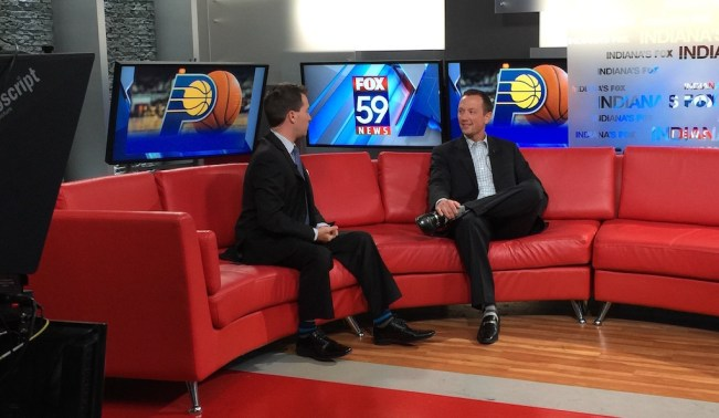 Dave Griffiths and Scott Agness in studio at FOX 59.