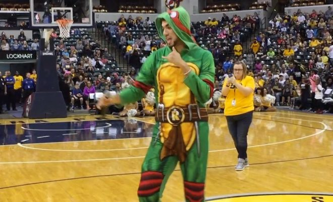 "Pacers rookie forward Georges Niang danced to ""Juju On That Beat."""