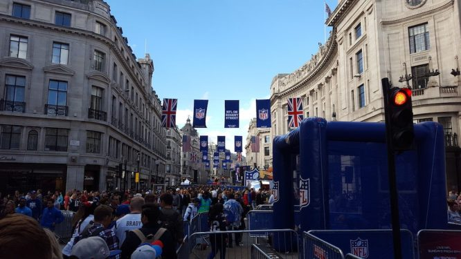 NFL took over Regent Street over the weekend for Fan Fest.