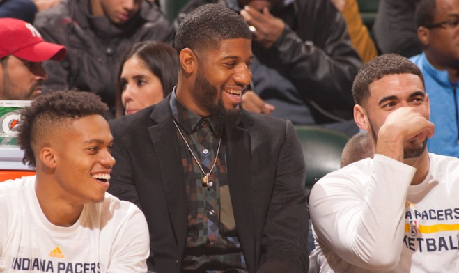 Paul George may be dealing with an injury, but his teammates say he's still having an impact. [Frank McGrath/PS&E]