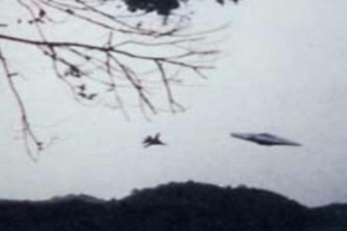 A suposta perseguição de um caça ao OVNI, em outro ângulo