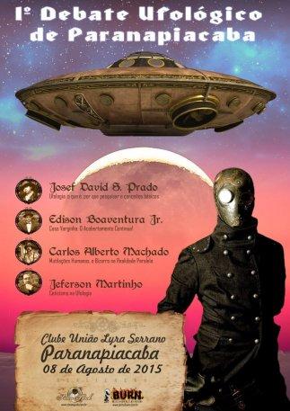 Cartaz do 1º Debate Ufológico de Paranapiacaba