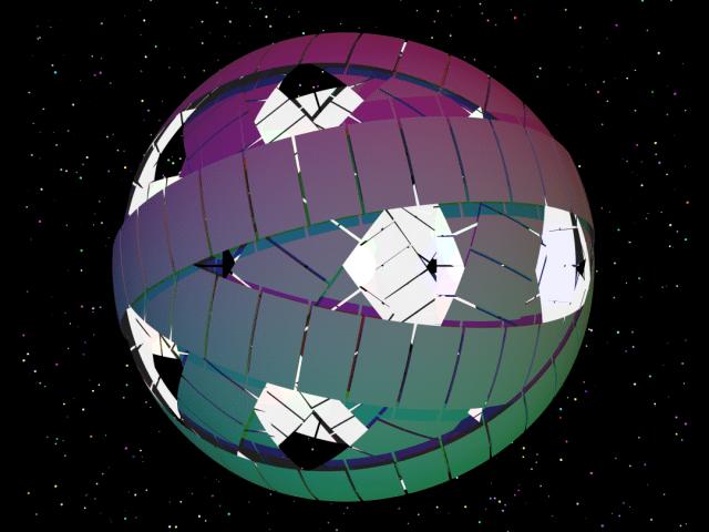 Concepção artística de uma esfera de Dyson