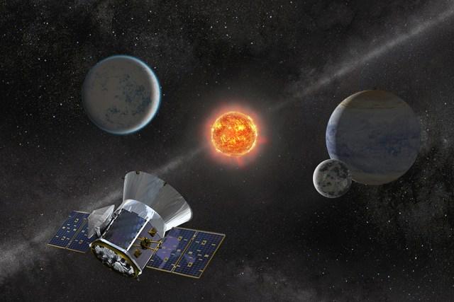 TESS, a sonda buscadora de explanetas. Reprodução/NASA
