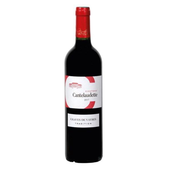 Bouteille de vin rouge c cantelaudette tradition