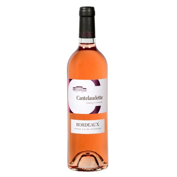 Bouteille de vin rosé C Cantelaudette