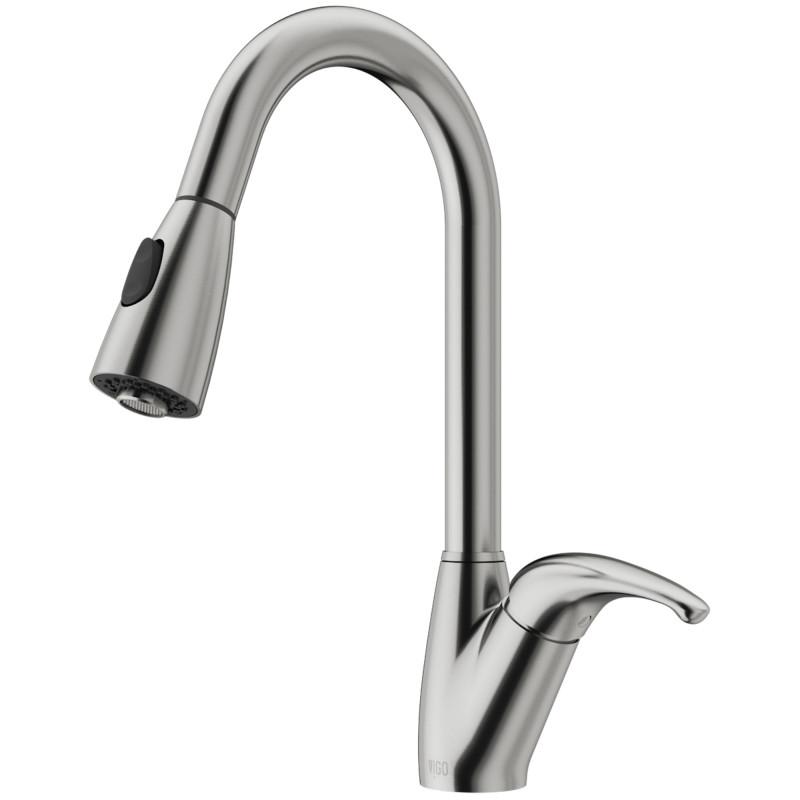 stainless steel kitchen faucet with pull down spray contemporary art for vigo romano in customer photos vigomarketing