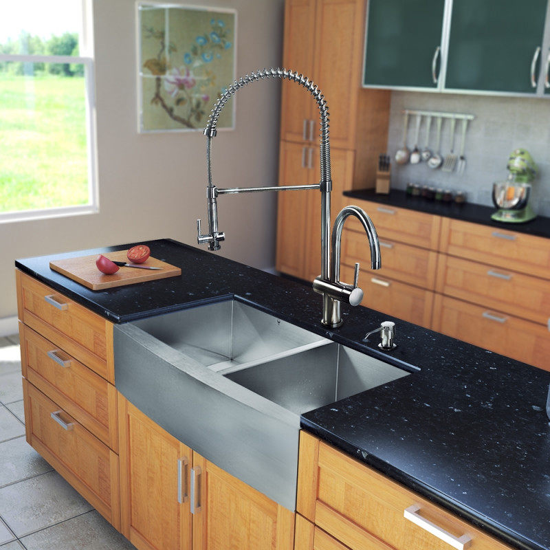 36 kitchen sink best appliance brand all in one inch farmhouse stainless steel double bowl customer photos vigomarketing