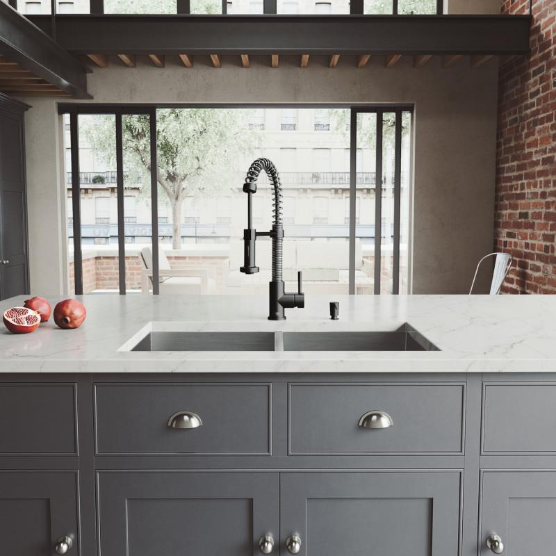 edison faucet in matte black