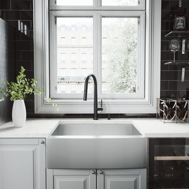 greenwich faucet in matte black