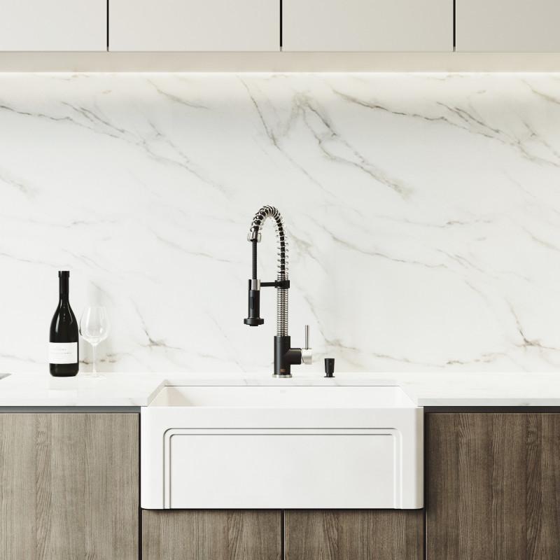edison pull down spray kitchen faucet