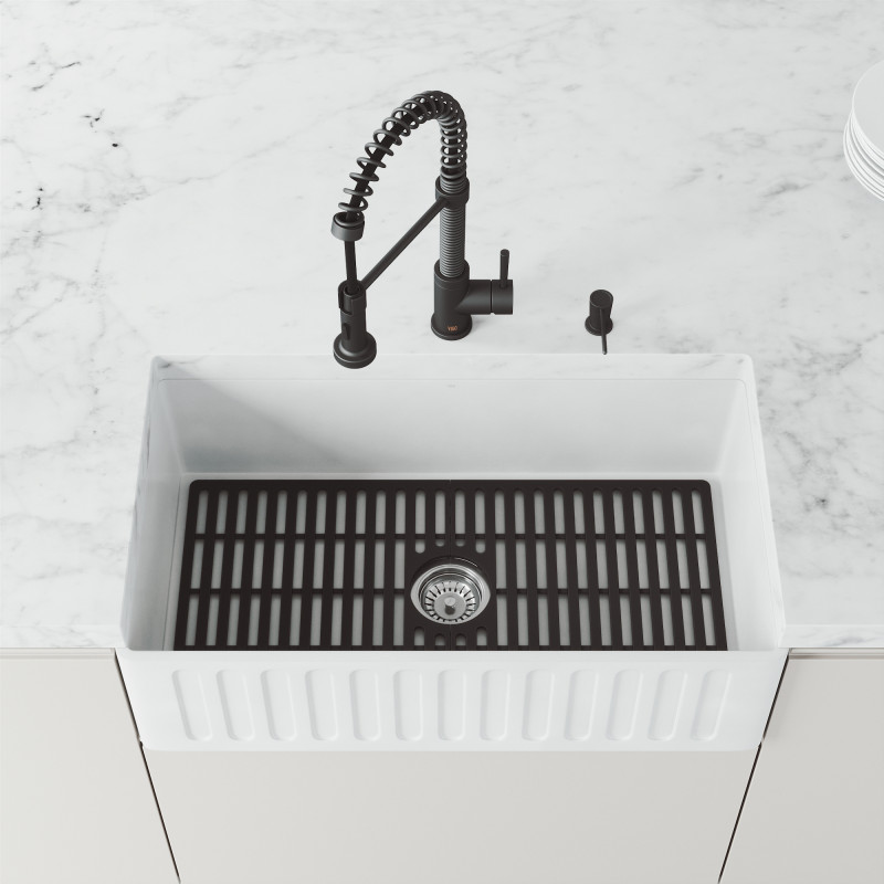 vigo matte black silicone kitchen sink