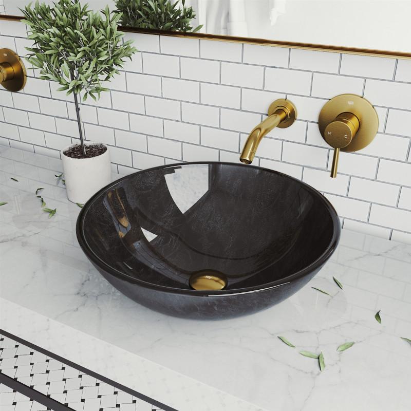 vigo round gray onyx glass vessel sink