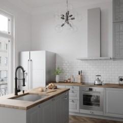 Black Kitchen Faucet Cabinets San Diego Blog Trend Back In Matte Vigo Edison Pull Down Spray