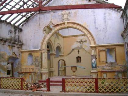 Allaipiddy Church after the attack