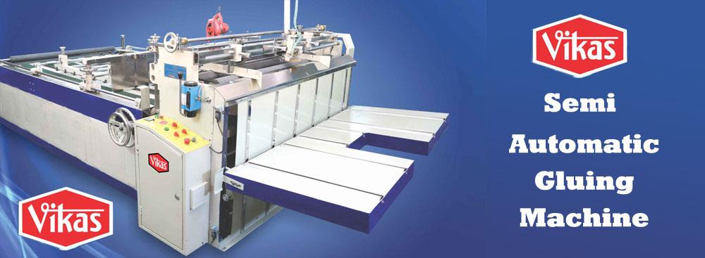 Semi Automatic Gluing Machine