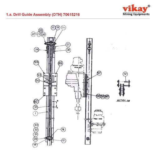 Drill Guide Assembly (DTH) 70615216 Replacement
